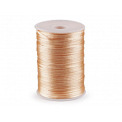 Șnur satinat, Ø2 mm (rola 95 m) - roz somon deschis