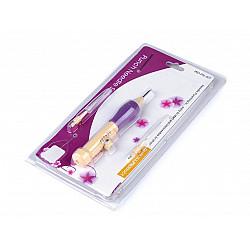 Stilou de brodat - violet - bej