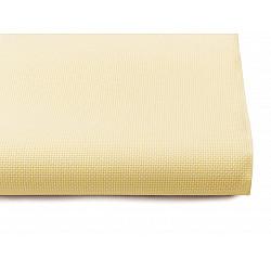 Țesătură broderie Kanava la metru, lățime 140 cm, 54 ochiuri - galben vanilie