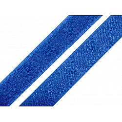 Bandă arici, complet (puf + scai), 20 mm, albastru regal - la rola