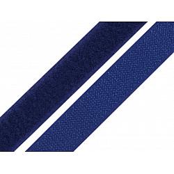 Bandă arici, complet (puf + scai), 20 mm, albastru safir - la rola