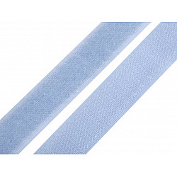 Bandă arici, complet (puf + scai), 20 mm, bleu pal - la rola