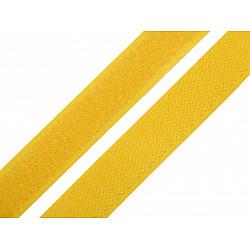 Bandă arici, complet (puf + scai), 20 mm, galben muştar - la rola