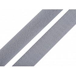 Bandă arici, complet (puf + scai), 20 mm, gri deschis - la rola