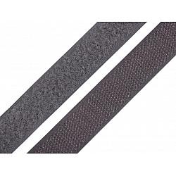 Bandă arici, complet (puf + scai), 20 mm, gri - la rola
