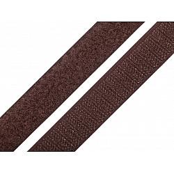 Bandă arici, complet (puf + scai), 20 mm, maro - la rola