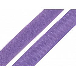 Bandă arici, complet (puf + scai), 20 mm, mov lavandă - la rola