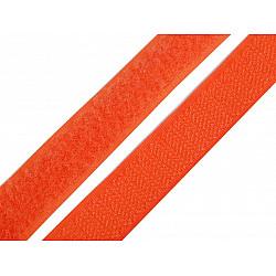 Bandă arici, complet (puf + scai), 20 mm (rola 25 m) - portocaliu