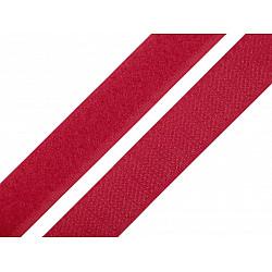 Bandă arici, complet (puf + scai), 20 mm, roşu căpşună - la rola
