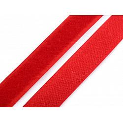 Bandă arici, complet (puf + scai), 20 mm, roşu - la rola