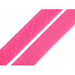 Bandă arici, complet (puf + scai), 20 mm, roz - la rola