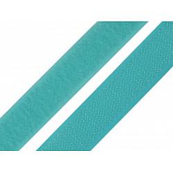 Bandă arici, complet (puf + scai), 20 mm, turcoaz - la rola