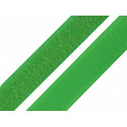 Bandă arici, complet (puf + scai), 20 mm, verde deschis - la rola