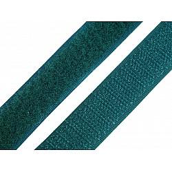 Bandă arici, complet (puf + scai), 20 mm, verde închis - la rola