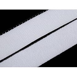 Bandă arici/velcro cu două feţe la metru, 20 mm - alb