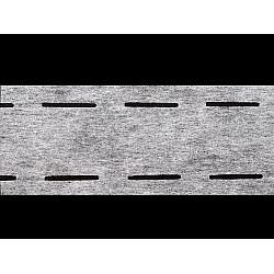 Bandă betelie termoadezivă / întăritură betelie, cu doua fante, lățime 55 mm, 50 m - alb