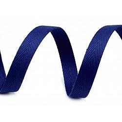 Bandă din bumbac Herringbone, lățime 10 mm (rola 50 m) - albastru berlin