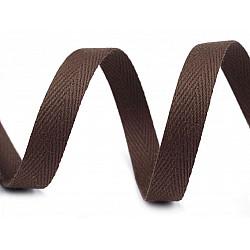 Bandă din bumbac Herringbone, lățime 10 mm (rola 50 m) - maro
