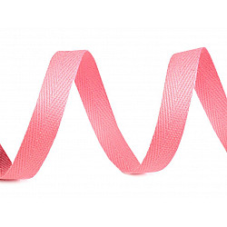 Bandă din bumbac Herringbone, lățime 10 mm (rola 50 m) - roz deschis