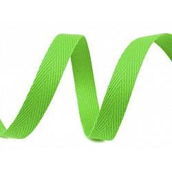 Bandă din bumbac Herringbone, lățime 10 mm (rola 50 m) - verde deschis