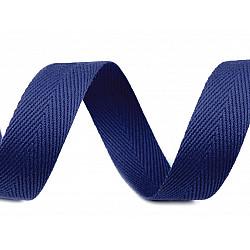 Bandă din bumbac Herringbone, lățime 20 mm (rola 50 m) - albastru berlin