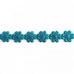 Banda flori Turcoaz, 2.5cm