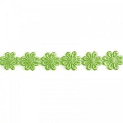 Banda flori Verde-deschis, 2.5cm