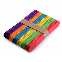 Bețișoare din lemn colorate (pachet 50 buc.) - 1,8x15 cm