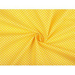 Bumbac cu buline, la metru - galben
