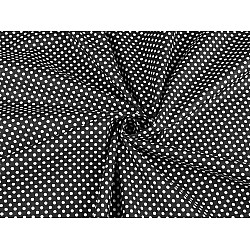 Bumbac cu buline, la metru - negru