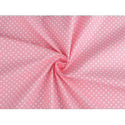 Bumbac cu buline, la metru - roz deschis