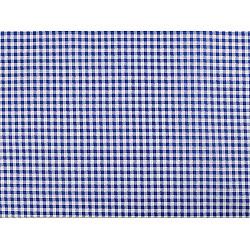 Bumbac imprimat, motiv carouri, la metru - albastru