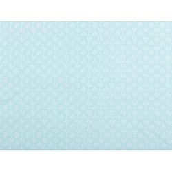 Bumbac imprimat, motiv floral, la metru - bleu nu-mă-uita