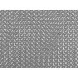 Bumbac imprimat, motiv floral, la metru - gri