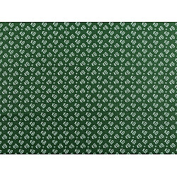 Bumbac imprimat, motiv floral, la metru - verde inchis