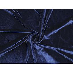 Catifea elastică la metru - albastru berlin