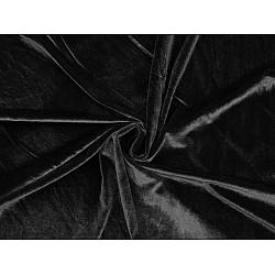 Catifea elastică la metru - negru