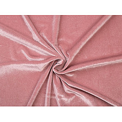 Catifea elastică la metru - roz pudrat