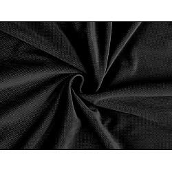 Catifea uni structurată, la metru - negru