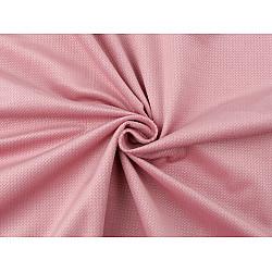 Catifea uni structurată, la metru - roz pudrat
