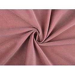 Catifea uni structurată, la metru - roz vintage