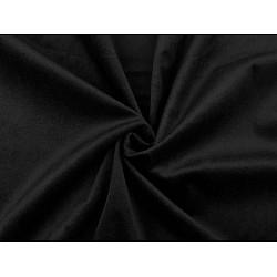 Catifea usor elastica, la metru - negru