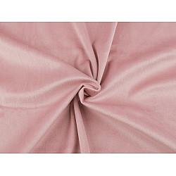 Catifea usor elastica, la metru - roz pudrat