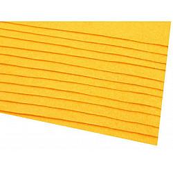 Coli fetru, 20x30 cm, 166 g / m², 2 bucati - galben muștar