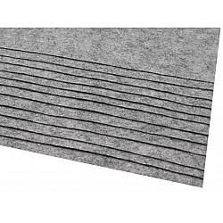 Coli fetru, 20x30 cm, 166 g / m², 2 bucati - gri