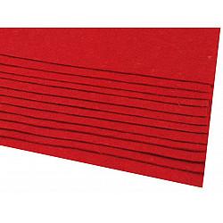 Coli fetru, 20x30 cm, 166 g / m², 2 bucati - roșu căpșună