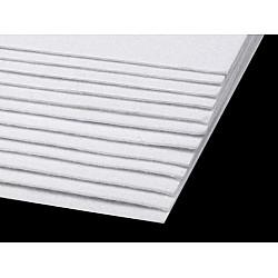 Coli fetru, 20x30 cm, 300 g / m², 2 bucati - alb