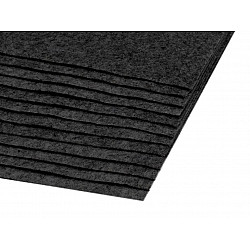 Coli fetru, 20x30 cm, 300 g / m², 2 bucati - black-grey