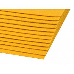 Coli fetru, 20x30 cm, 300 g / m², 2 bucati - galben muștar