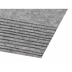 Coli fetru, 20x30 cm, 300 g / m², 2 bucati - gray white